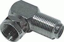OEM spojka úhlová F-konektor / F-zásuvka