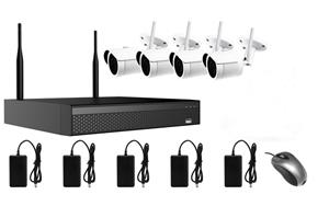 AMIKO WIFI KIT4, kamerový WIFI SET, 4 IP kamery 5MP, NVR 4CH